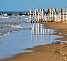 Reflections on the beach by Adri  Padmos
