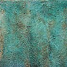 Mottled Green Paint by Michael Deeble