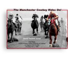 Davy Jones: First Win as a Jockey on Digpast Canvas Print