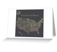 United Beers of America Greeting Card