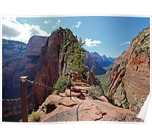 The Step of Faith on Angels Landing Poster