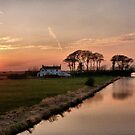Sunset on the Lancaster Canal by Lilian Marshall