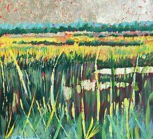 Golden Leaf Marsh by Warren  Thompson