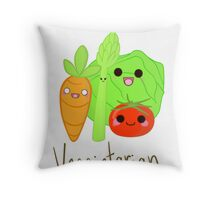 Veggietarian Throw Pillow