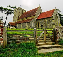 St Andrews Church,  Beddingham, West Sussex by TheWalkerTouch