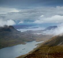 Loch Damh From Beinn Damh, Scottish Highlands by Jim Round