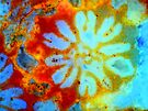 Ocean Tie-Dye Flower by Stephanie Bateman-Graham