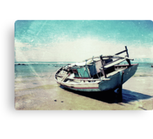 Waiting for the tide Canvas Print