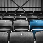 Blue Seat in the Football Stand by Natalie Kinnear