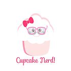 Cupcake Nerd iPhone Case by sweettoothliz
