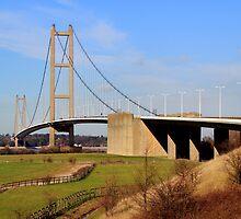 Humber Bridge, South side by John Dunbar