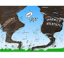 Binary Options News Cartoon Twin Twisters Photographic Print