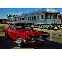 """1968 Mustang """"At the Station"""" Photographic Print"""