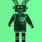 Heart Robot - Green by KeLu