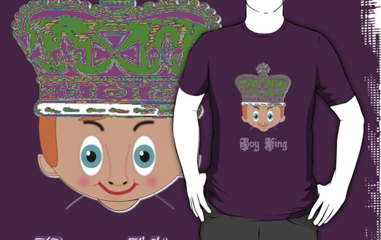 Boy King T-shirt design by Dennis Melling
