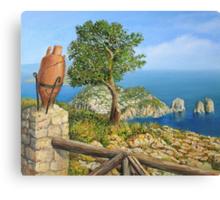 Monte Solaro on island Capri Canvas Print