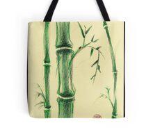 Happiness - Zen bamboo prisma pencil and watercolor drawing Tote Bag