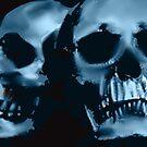 blue skulls by John Ryan