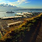 Dover Docks from the White Cliffs by SerenaB