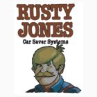 Rusty Jones Rust Prevention LoFi Square Sticker Print by chapel976