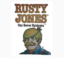 Rusty Jones Rust Prevention HiFi Sticker Print by chapel976