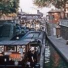 Barge in canal Jaures 1957 09190010  by Fred Mitchell