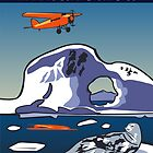 Art Deco Antarctica - Seals and Lockheed Vega by contourcreative