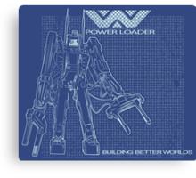 Powerloader Blueprint Canvas Print