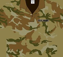 US Army Camo  T-Shirt  iPhone 4 Case / iPhone 5 Case  by CroDesign