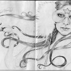 The Sketchbook Project Limited Edition Swan Princess by Jo Hawkins