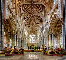 Exeter Cathedral Nave by hebrideslight