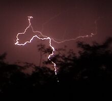 Lightning strikes by Anita Deppe