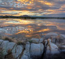 Sundown Willow Lake by Bob Larson