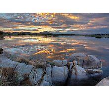 Sundown Willow Lake Photographic Print