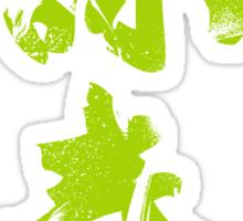 Wing Chun (Eternal Spring) Kung Fu - Neon Green Sticker