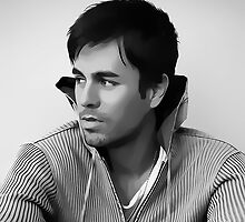 Enrique Iglesias Digital Art Portrait by David Alexander Elder by David Alexander Elder