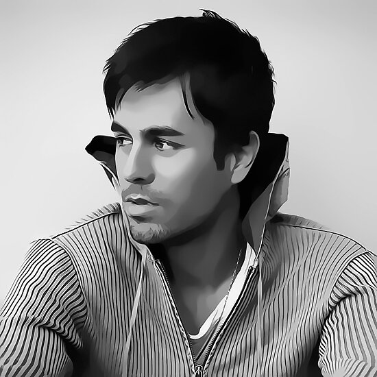 › Enrique Iglesias Digital Art Portrait by David Alexander Elder