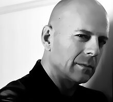 Bruce Willis Digital Art Portrait by David Alexander Elder by David Alexander Elder