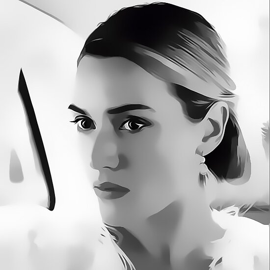 Kate Winslet Digital Art Portrait by David Alexander Elder by David Alexander Elder