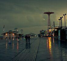 Coney Island in the rain by Marzena Grabczynska Lorenc