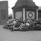 Anzac  Day - 2012 Echuca - Echuca Memorial - Grayscale by djnatdog