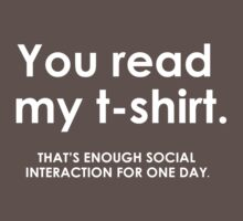 ENOUGH SOCIAL INTERACTION by mcdba