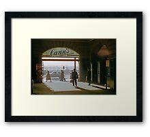 Canns Entrance Flinders Street station 1957 Framed Print