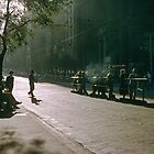 1957 Evening Collins Street Melbourne by Fred Mitchell