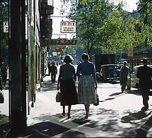 1957 Collins Street in morning by Fred Mitchell
