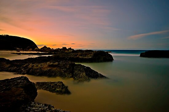 Burgess Rocks Sunset by bazcelt