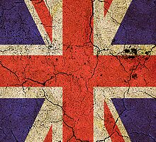 'Cracked Britannia' Union Jack Flag iPhone / iPod case by Steve Crompton