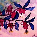 Fushia, watercolor by Anna  Lewis