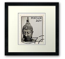 Buddha Postage Framed Print