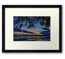 Beaufort Harbor Sunset Framed Print